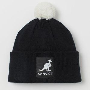NWT KANGOL x H&M   Pompom Knit Hat